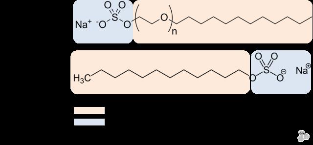 SLS -SLES-estructura-quimica